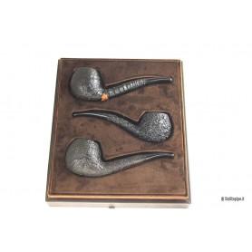Caja de cuero Castello con 3 pipas Castello Shape #84