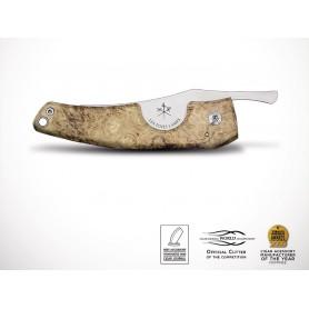 """Les Fines Lames cigar cutter """"PETIT ACACIA BURL WOOD"""""""