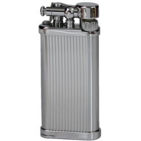 Savinelli Old Boy pipe lighter - Titanium Vertical lines