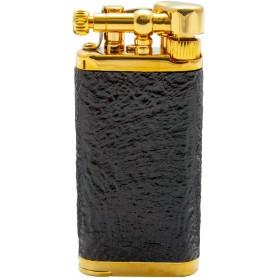 Savinelli Old Boy pipe lighter - sand briar / Gold