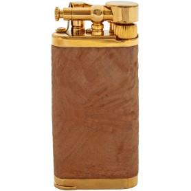 Savinelli Old Boy pipe lighter - tan sand briar