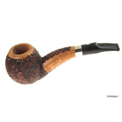 Ser Jacopo (R1) A Rusticated - with silver band - Half Bent Bulldog