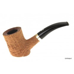 Il Ceppo group 1 sandblast with silver band - Bent Poker