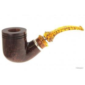 Pipa Ser Jacopo L1 - C - Delecta ambra/argento - Bent Pot