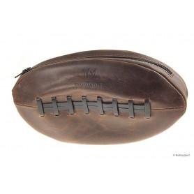 """Borsa """"Rugby Ball"""" Fiamma di Re in pelle per 1 pipa, tabacco e accessori"""