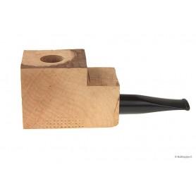 Bloque brezo extra-extra con boquilla negro en metacrilato por pipas derechas