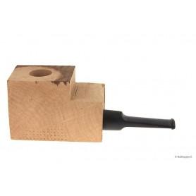 Bloque brezo extra-extra con boquilla en metacrilato negro por pipas derechas