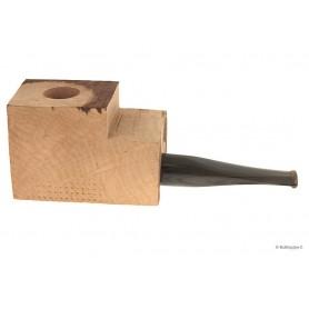 Bloque brezo extra-extra con boquilla cumberland en metacrilato por pipas derechas