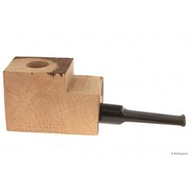 Ciocco di radica extra-extra con bocchino a sella in metacrilato bufalo - pipe dritte