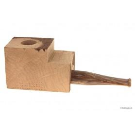 """Bruyère troué avec tuyau plein en acrylique """"bois"""" pour pipes droites"""