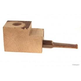 """Ciocco di radica extra-extra con bocchino a sella in metacrilato """"legno"""" - pipe dritte"""