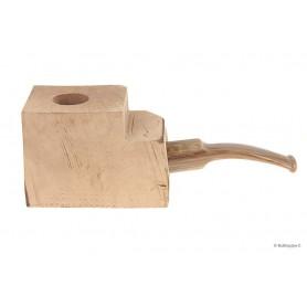 """Bruyère troué avec tuyau saddle en acrylique """"bois"""" pour pipes demi-courbes"""