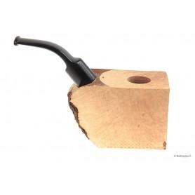 Bruyère troué avec tuyau saddle en acrylique noir pour pipes courbes