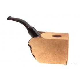 Ciocco di radica extra-extra con bocchino a sella in metacrilato cumberland - pipe curve