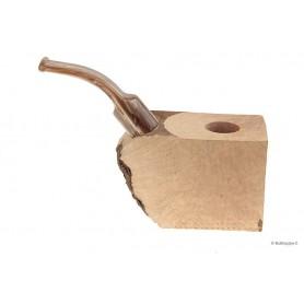 """Bruyère troué avec tuyau saddle en acrylique """"bois"""" pour pipes courbes"""