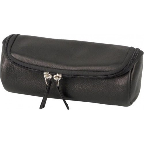 2 zip leather pouch for 2pipes and accessories