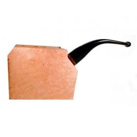 Ciocco di radica extra-extra con bocchino pieno in metacrilato - pipe curve