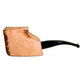 Ciocco di radica extra-extra con bocchino pieno in metacrilato - pipe semicurve