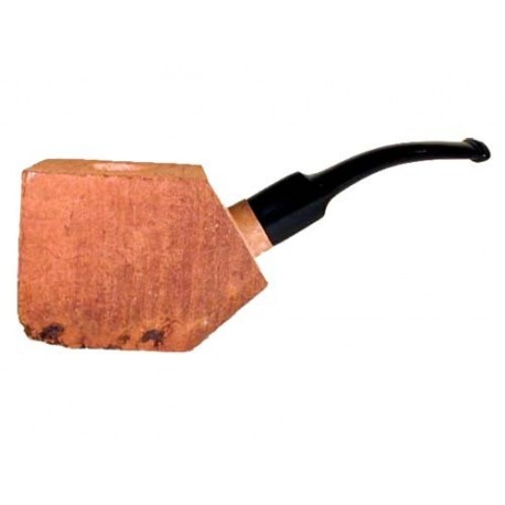 """Bruyère """"First"""" troué avec tuyau saddle en acrilique pour pipes courbes"""