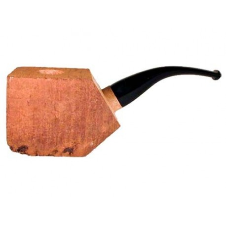 """Briar block """"First"""" bored and fitted with acrylic bent stem"""