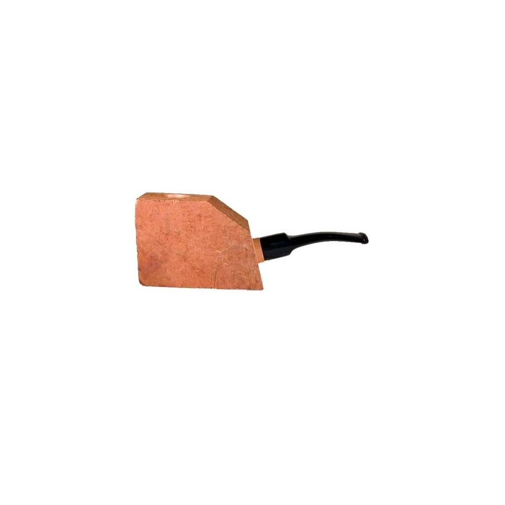 """Bruyère troué """"First"""" avec tuyau saddle en acrilique pour pipes demi-courbes"""