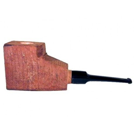 """Briar block """"First"""" bored and fitted with saddle acrylic straight stem"""