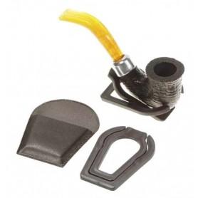 Plastics pipe holder