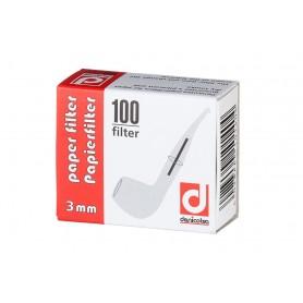 Denicotea filtri in carta 3mm - 100pz