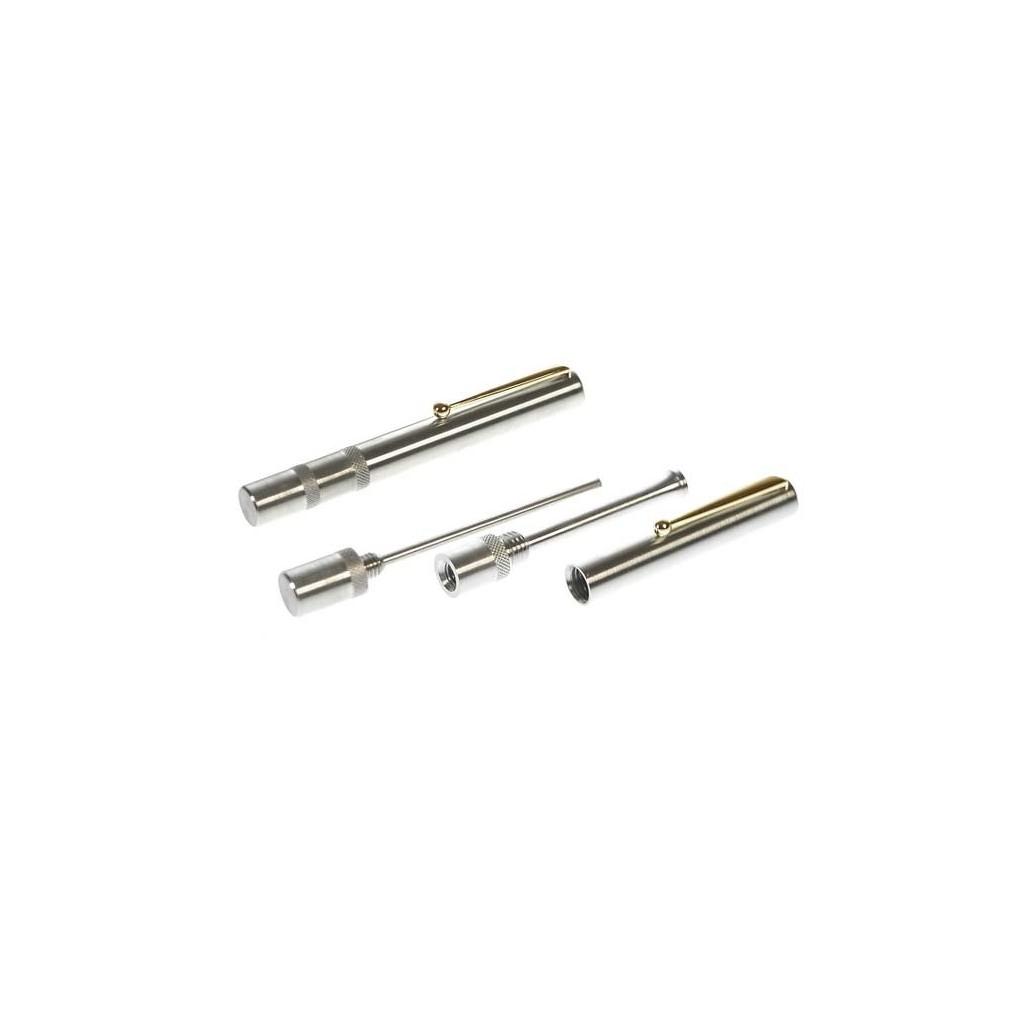 """Matt steel pipe tamper """"Pen"""""""