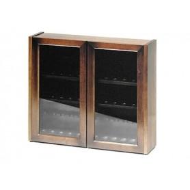 Vitrinas porta pipas de 36 lugares en nogal