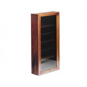 Vitrinas porta pipas de 48 lugares en nogal