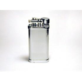 Briquet pour pipe Savinelli Old Boy - Titane lignes verticales