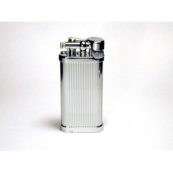 Savinelli Old Boy pipe lighter - Titanium Vertical lines