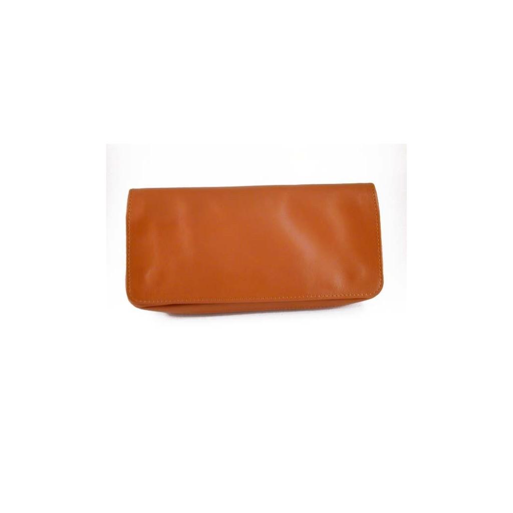 Arcadia bolsa en piel para 2 pipas, tabaco y accesorios - Clara