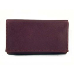 "Arcadia leather tobacco pouch ""Rotator"" - Bordeaux"