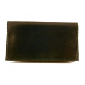 Arcadia sac pour tabac en cuir - Noir