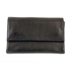 "Castello leather tobacco pouch ""Bauletto"" - Black"