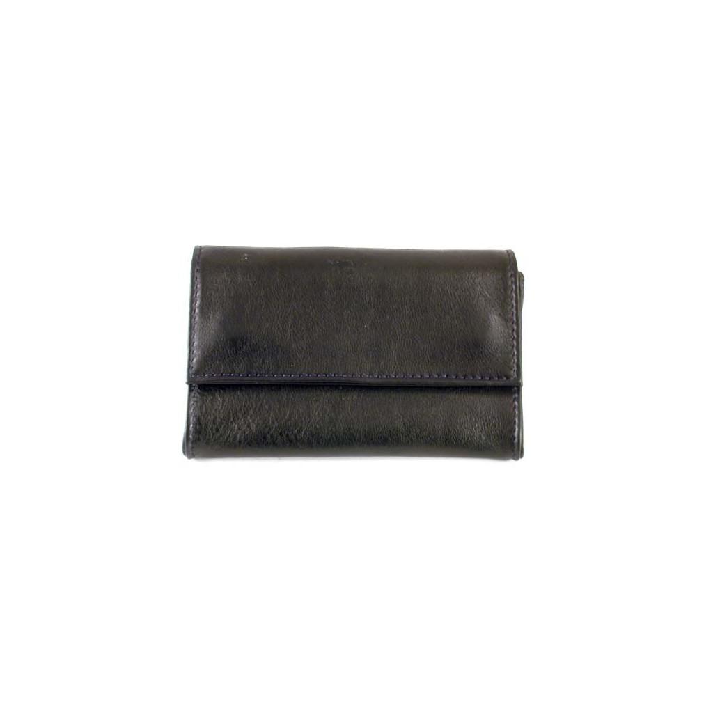 """Castello leather tobacco pouch """"Bauletto"""" - Black"""