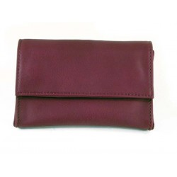 "Castello leather tobacco pouch ""Bauletto"" - Bordeaux"