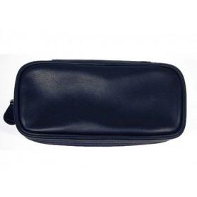 Castello bolsa en piel para 2 pipas y tabaco - Negro