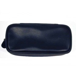 Castello leather pouch for 2 pipes, tobacco and accessories - Black