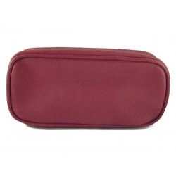 Castello leather pouch for 2 pipes, tobacco and accessories - Bordeaux