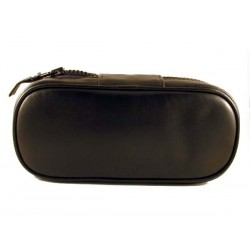 Borsa Peterson in nappa nera per 2 pipe e accessori