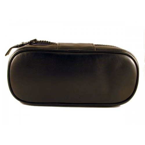 Peterson black leather pouch for 2 pipes and accessories