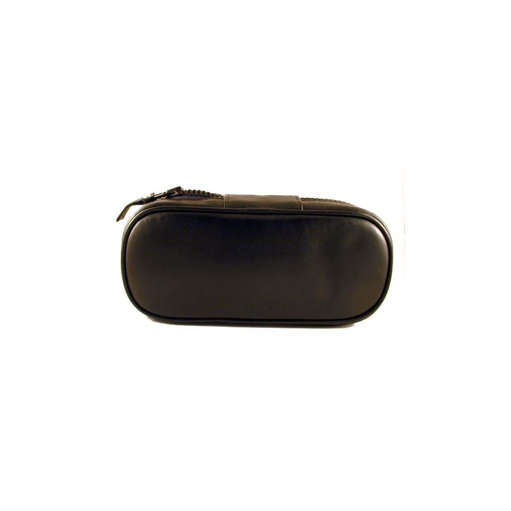 Peterson bolsa en piel negra para 2 pipas y accessorios