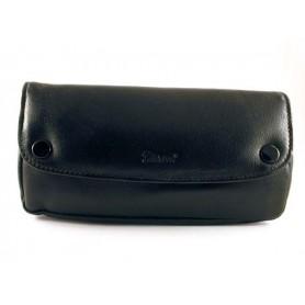 Borsa Peterson in nappa nera per pipa, tabacco e accessori