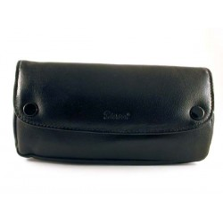 Peterson black leather pouch for pipe, tobacco and accessories