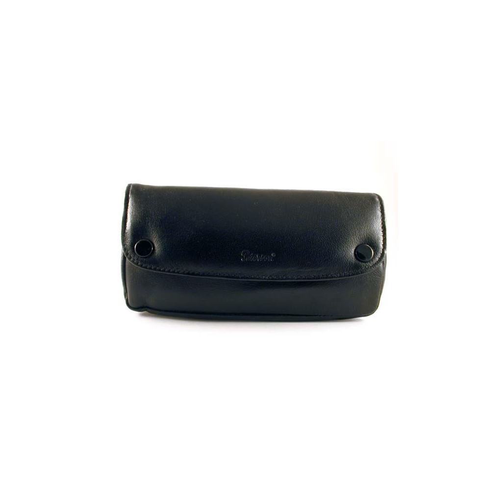 Peterson bolsa en piel negra para pipas, tabaco y accessorios
