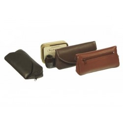 Leather pouch for pipe, tobacco and accessories with magnet