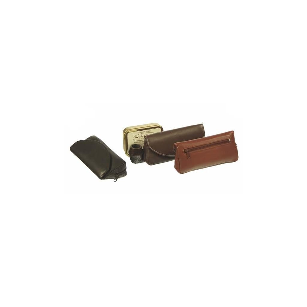 Borsa in nappa per pipa, tabacco e accessori con calamita